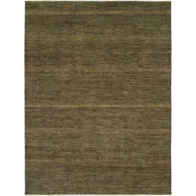 Illusions Charcoal/Gold Area Rug Rug Size: 4 x 6