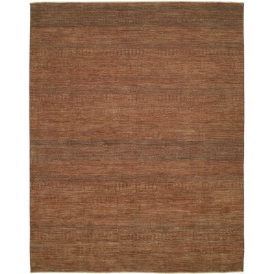 Illusions Rust/Dark Green Area Rug Rug Size: 9 x 12