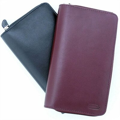 Leatherbay Ladies Zip Wallet - Color: Burgundy at Sears.com