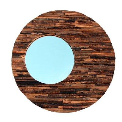 Wood Orbit Mirror Finish: Natural