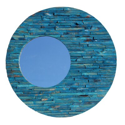 Wood Orbit Mirror Finish: Blue