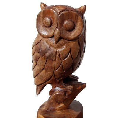 Hand Carved Owl Figurine