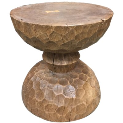 Colinton Chiseled Hour Glass End Table