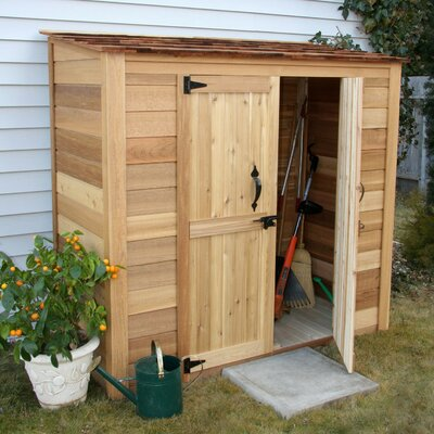 Garden Chalet 6.25 ft. W x 3.04 ft. D Wood Lean-To Tool Shed GGC63SR