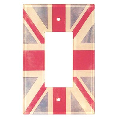 Artitude Vintage Union Jack Decorative Light Switch Cover with Single Rocker Switch