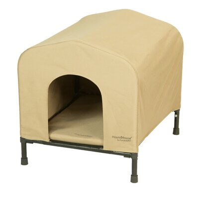 PortablePET Fabric and Steel Collapsible Yard Kennel Dog House Size: Small (19H x 19W x 21L)
