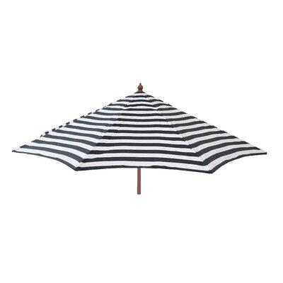 9 Market Umbrella Color: Black and White Stripe