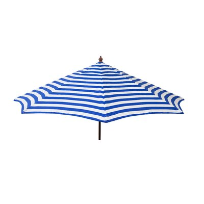 9' Market Umbrella Color: Blue and White Stripe