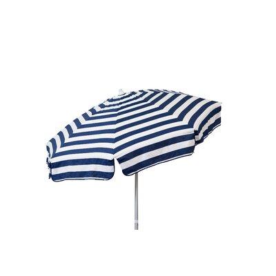 6' Drape Umbrella Fabric: Navy and White