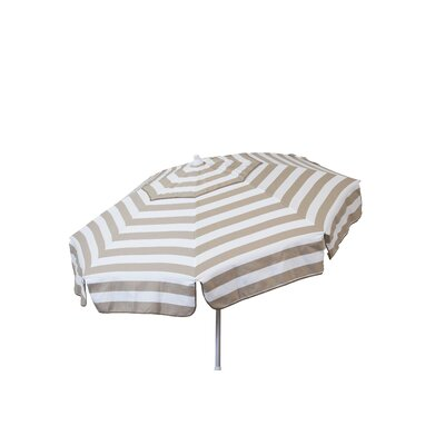 6' Beach Umbrella Color: Khaki and White