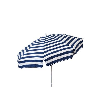 6 Beach Umbrella Color: Navy and White