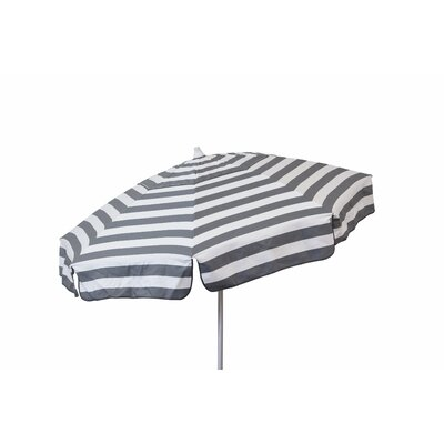 6 Beach Umbrella Color: Steel Grey and White