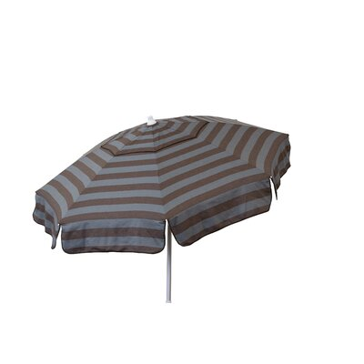 6 Beach Umbrella Color: Steel Grey and Chocolate