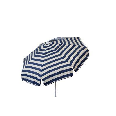6 Beach Umbrella Color: Navy and Vanilla