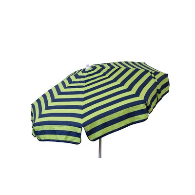 6 Beach Umbrella Color: Navy and Lime