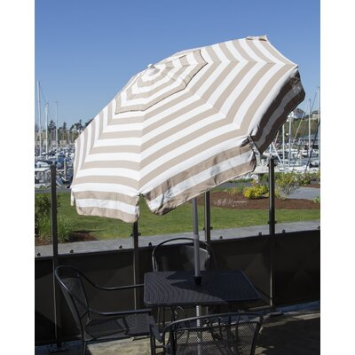 6' Drape Umbrella Fabric: Khaki and White