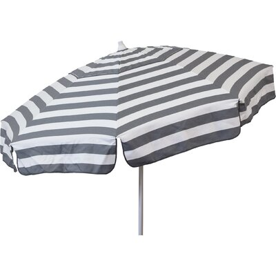 6 Drape Umbrella Fabric: Steel Grey and White