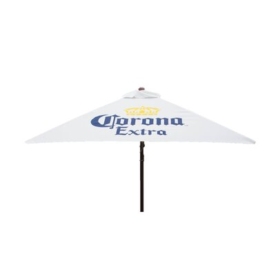 6.5 ft. Corona Extra Classic Wood Square Market Umbrella