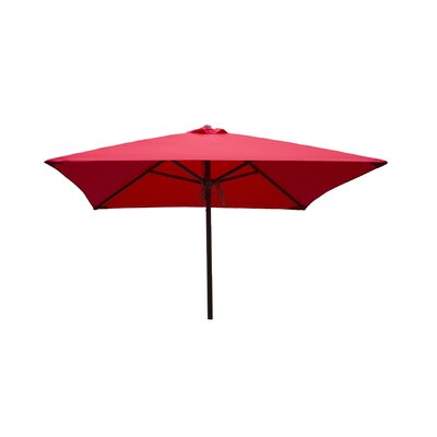 Destination Gear 6.5 ft. Classic Wood Square Market Umbrella Color: Red