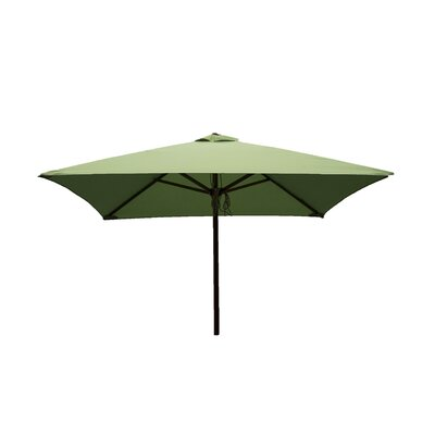 Destination Gear 6.5 ft. Classic Wood Square Market Umbrella Color: Lime