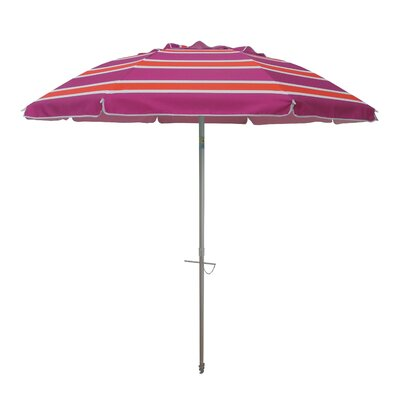 7 Tilt and Travel Bag Beach Umbrella Color: Orange/Pink