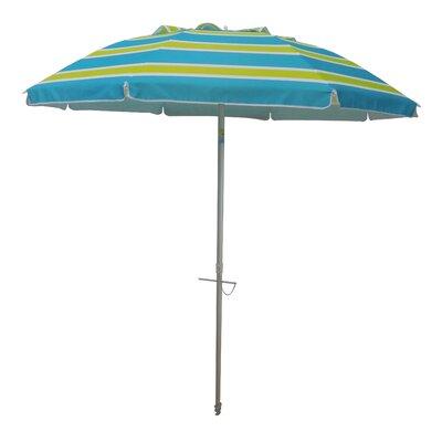 7 Tilt and Travel Bag Beach Umbrella Color: Green/Blue