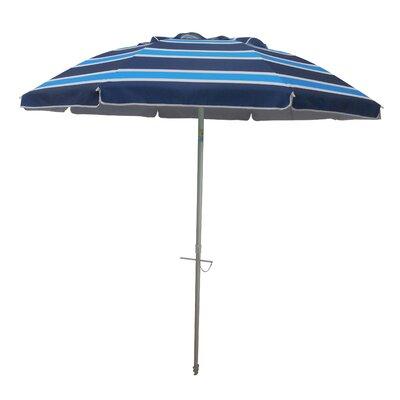 7 Tilt and Travel Bag Beach Umbrella Color: Navy/Blue