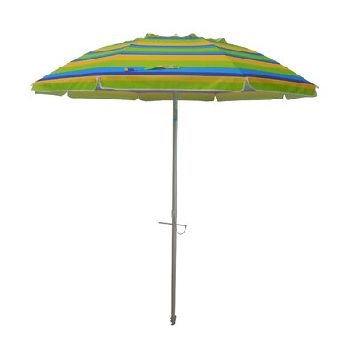 7 Tilt and Travel Bag Beach Umbrella Color: Lemon/Lime