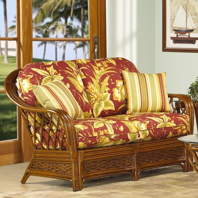 Coco Cay Leather Loveseat Upholstery: 517