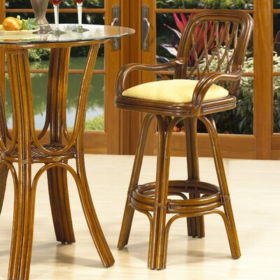Coco Cay 30 inch Swivel Bar Stool Feature: With Arms, Upholstery: 653