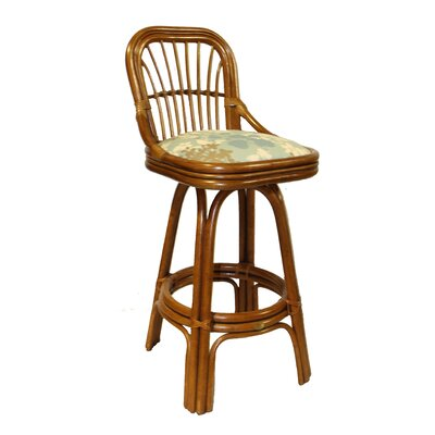 Amarillo 30 Swivel Bar Stool Feature: With Arms, Upholstery: 477