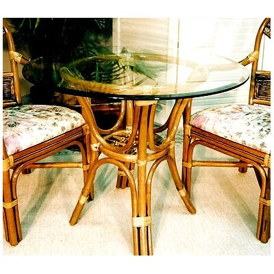 Delta  Dining Table Color: Urban Mahogany, Size: 42 Diameter Glass Top