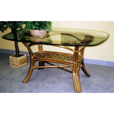 Delta Dining Table Color: Urban Mahogany, Size: 42 x 72 Glass Top