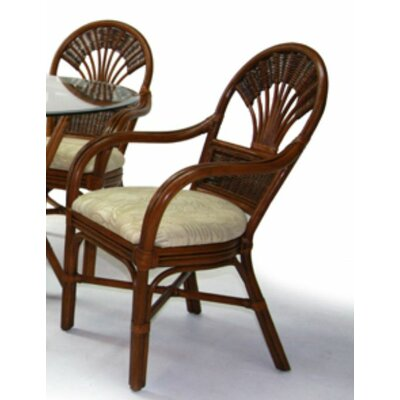 Tradewinds Arm Chair Color: Urban Mahogany, Upholstery: 516
