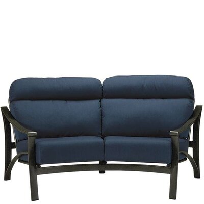 Corsica Crescent Loveseat with Cushion