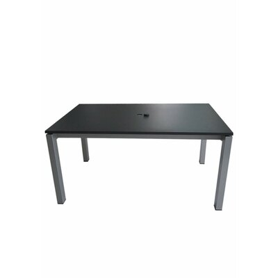 Valora Dining Table Finish: Charcoal, Table Size: 63 L x 39 W