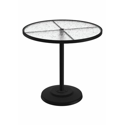 Umbrella Bar Table Table Size: 42 L x 42 W, Finish: Snow