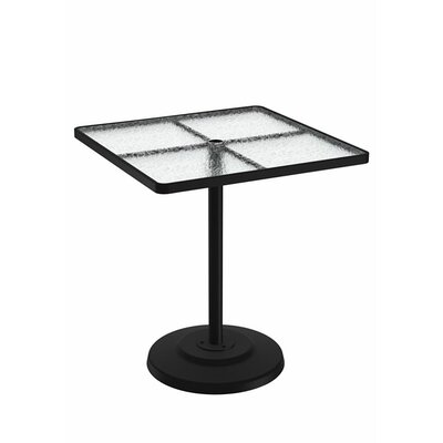 Umbrella Bar Table Table Size: 42 L x 42 W, Finish: Greco