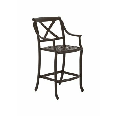 BelMar 28 Bar Stool Frame Color: Obsidian