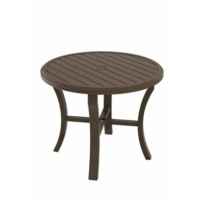 Banchetto Round Dining Table Finish: Obsidian