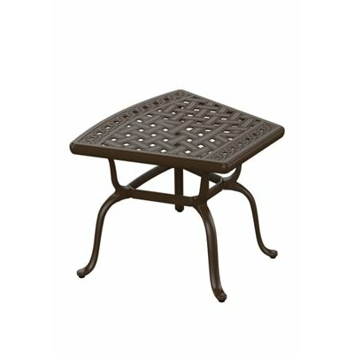 Purchase Garden Terrace Cast Aluminum Side Table Woodland Product Photo