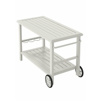 Banchetto Bar Serving Cart Finish: Shell