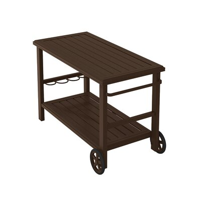 Banchetto Bar Serving Cart Finish: Greco