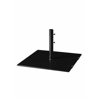 Free Standing Steel Plate Umbrella Base Finish: Obsidian