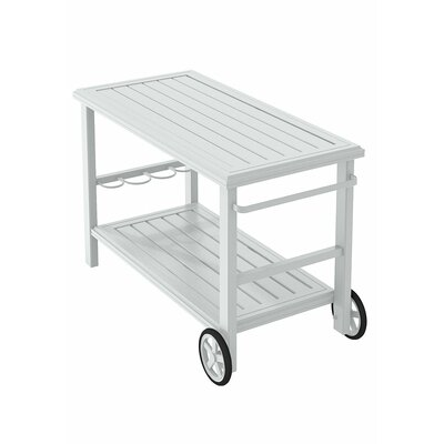 Banchetto Bar Serving Cart Finish: Snow