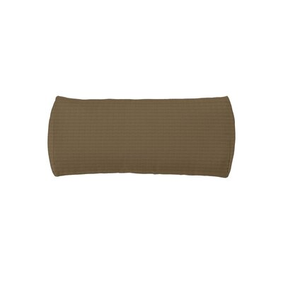 Chaise Headrest Outdoor Bolster Lumbar Cushion Color: Havana