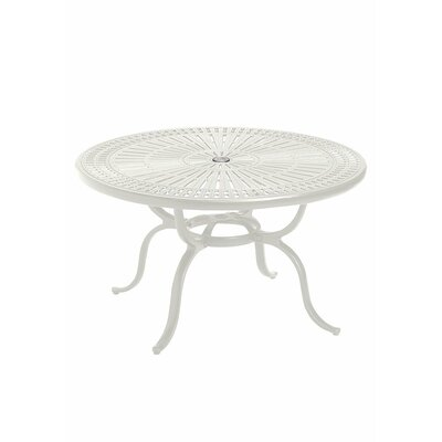 Image of Cast Aluminum Chat Table Frame Color: Shell