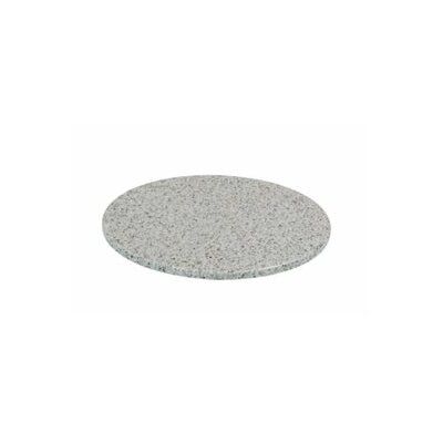 Round Granite Stone Table Top Finish: Dalmation