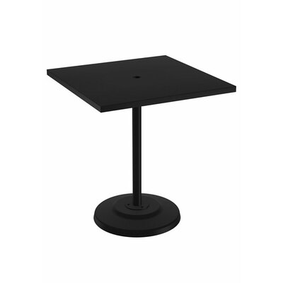 Ion Dining Table Table Size: 36 L x 36 W, Finish: Obsidian