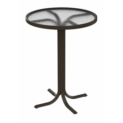Bar Table Table Size: 30 L x 30 W, Finish: Snow